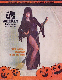 Elvira on TV Weekly cover