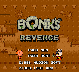Bonk's Revenge title screen turbografx-16