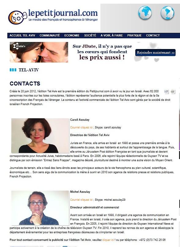 journaux israéliens francophones