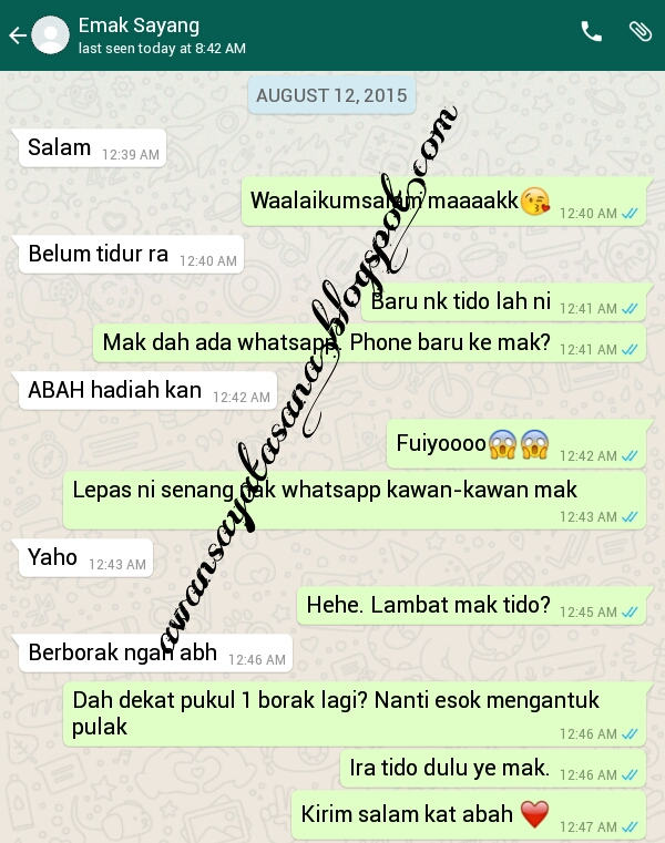Bila Mak Ada Whatsapp