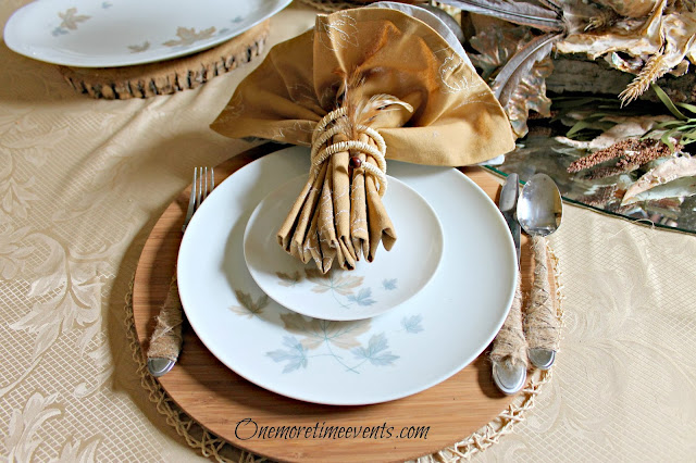 Repurpose silverware with twine