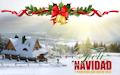 Paisaje de Invierno con Mensaje para Navidad
