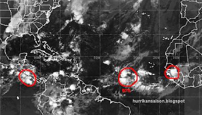 Der erste Ausblick auf die letzte Sommerwoche 2011, Mexiko, Ophelia, Atlantik, Pazifik, Satellitenbild Satellitenbilder, September, Hurrikansaison 2011, 2011, Karibik, Dominikanische Republik,