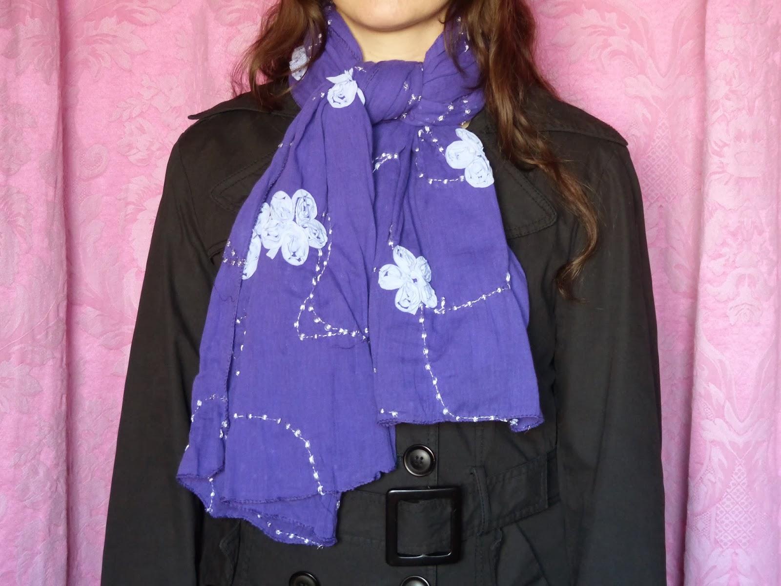 Exemple de nouage pour une echarpe