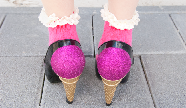 karl Lagergeld, melissa, ice cream shoes, high heels
