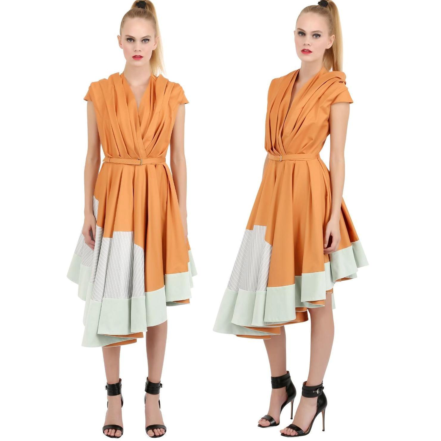MATTIJS COTTON AND SILK PLEATED DRESS - Queen Maxima