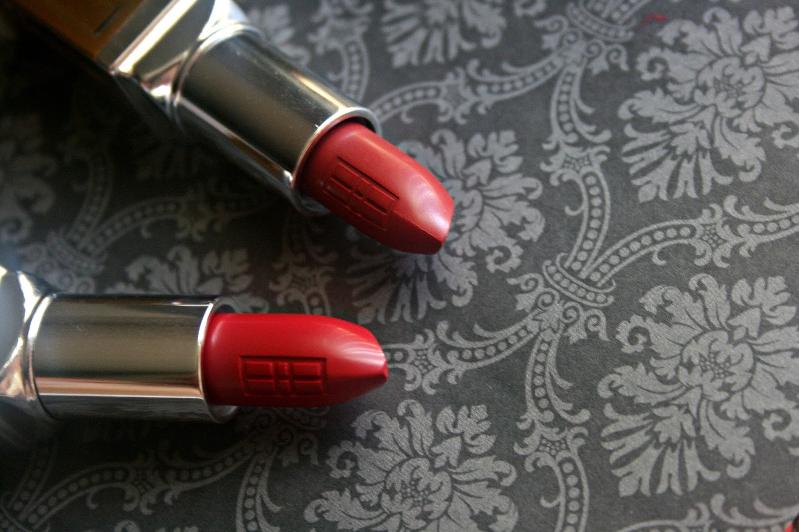 ELizabeth Arden Beautiful Color Moisturizing Lipstick in Sangria and Red To Wear Review, Photos & Swatches