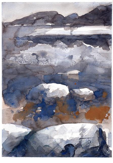 Sur les quais Porto-Vecchio aquarelle watercolor