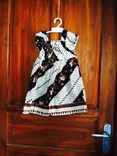 baju batik dress wanita anak parang