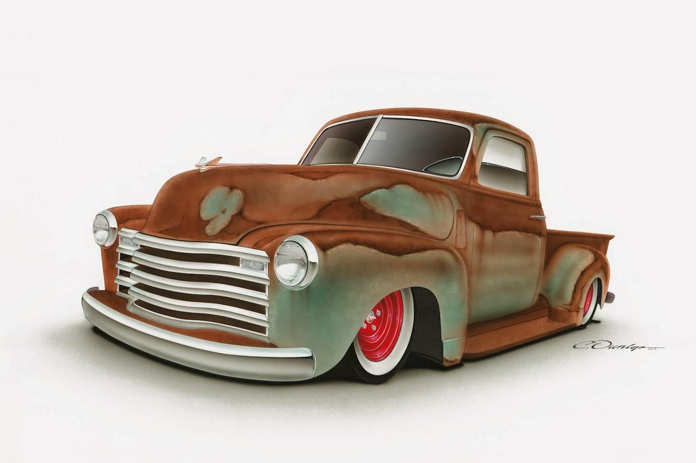 55 Chevy T Shirts Pinstripe Chris: Custom 1949 Chevy Truck Rendering
