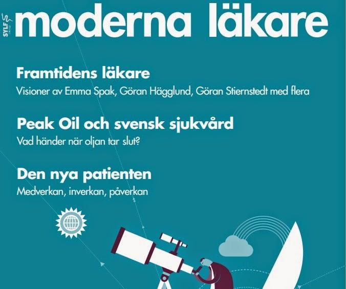 Johan Landgren skriver artikel i Moderna Läkare