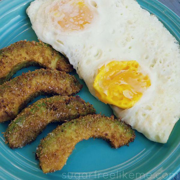 Low Carb Fried Avocados Using Just 1 Ingredient