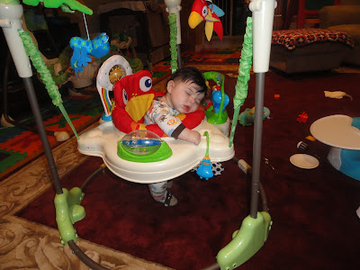Wordless Wednesday: The Little Dude Sleeps Anywhere!