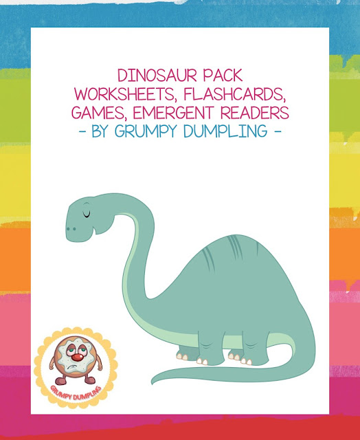 https://www.teacherspayteachers.com/Product/Dinosaur-Pack-Books-Emergent-Readers-Flashcards-Games-K-1st-2232696
