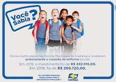 Guaraniaçu - 242 Mil Investimento em Uniforme Gratuito a ALUNOS