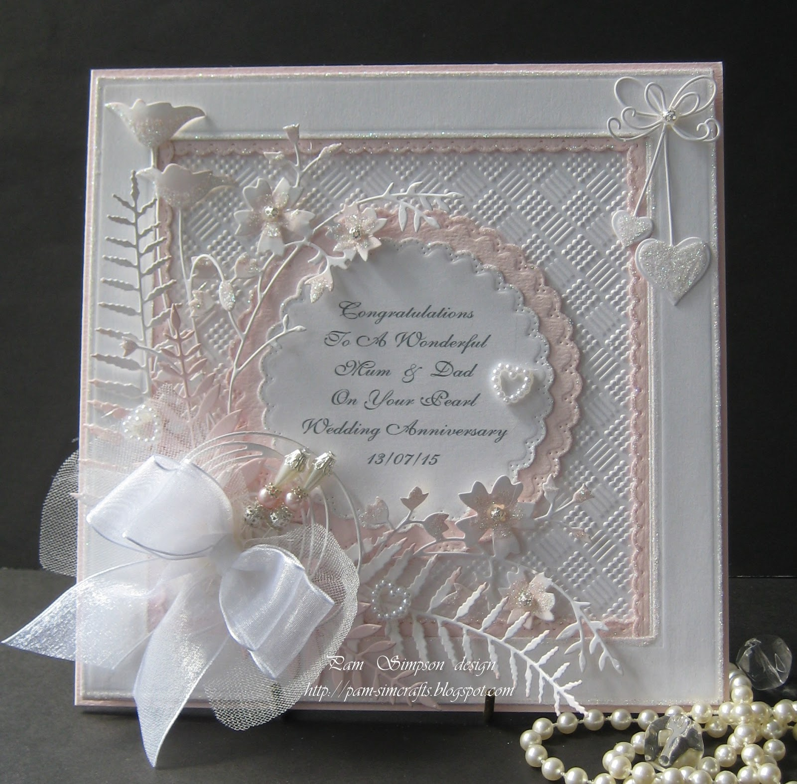 Pearl Wedding Anniversary Gift Ideas Uk : Had to use glamour dust on this special card!.