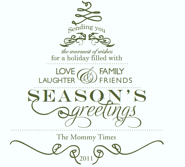 Christmas Greetings - The Mommy Times
