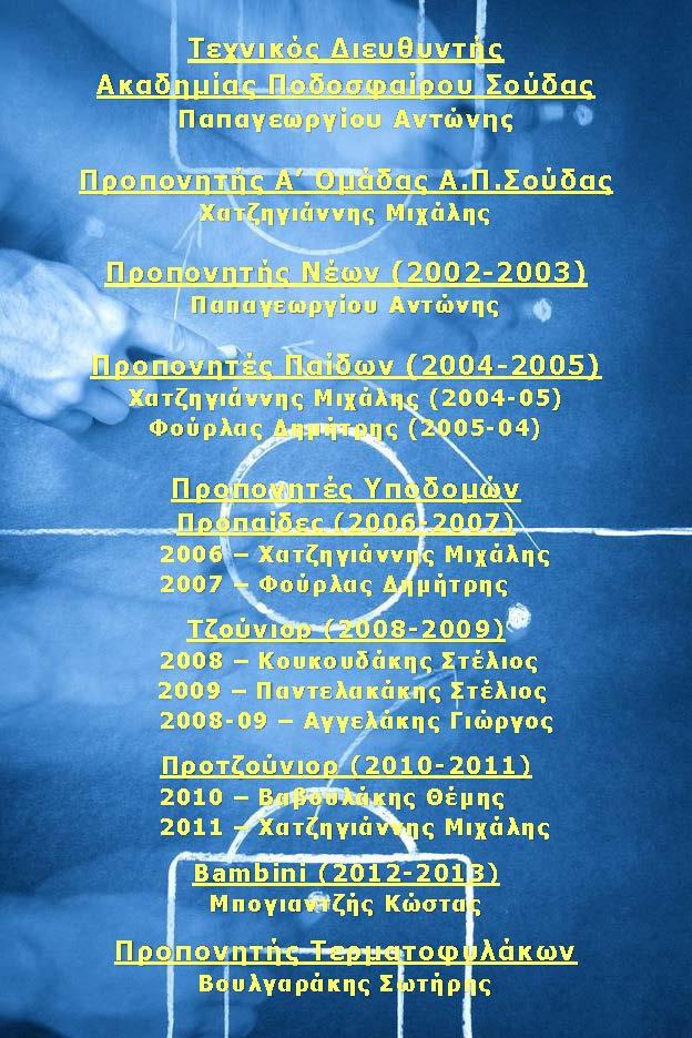 Προπονητικό Team 2017-18