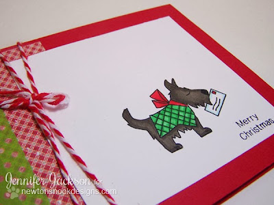 Christmas cards with Dog carrying letter to Santa by Newton's Nook Designs.