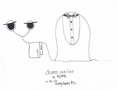Dummberry as dumm•waiter by Becky Gomez || BeckyCharms & Co.