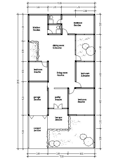 House plans 10x20 bedroom furniture ideas - Meter wide house plans ...