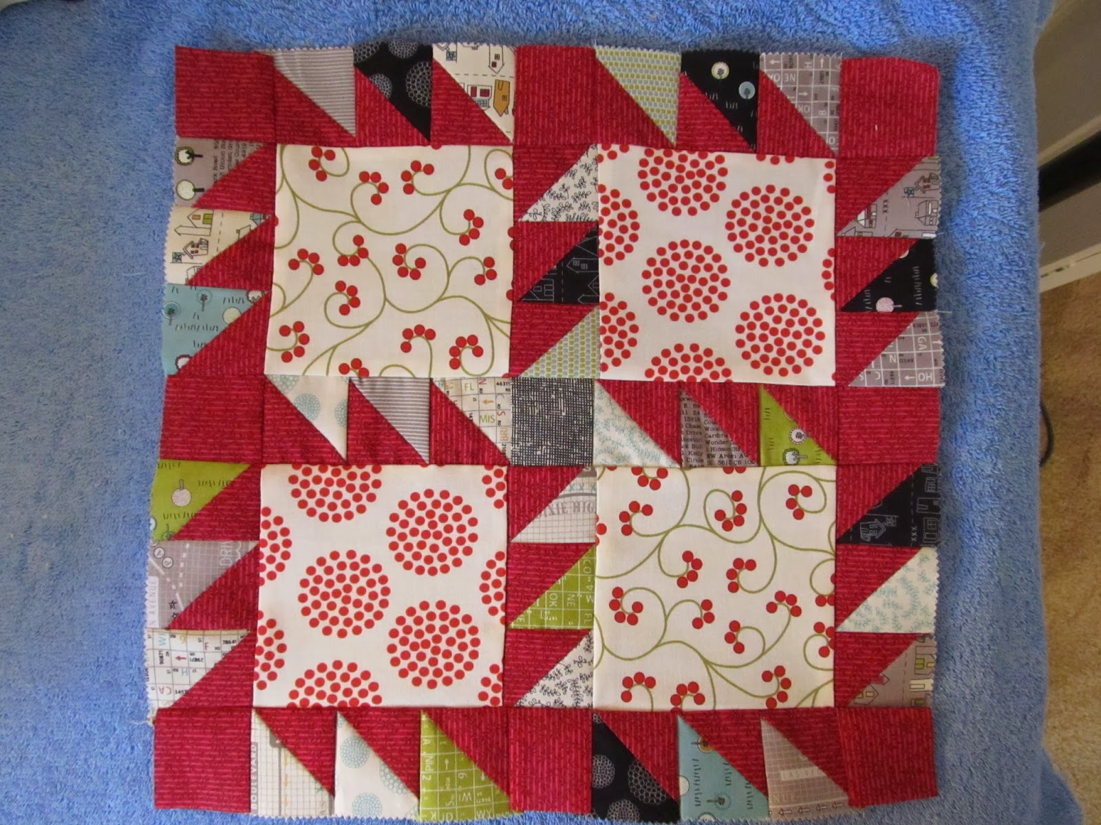 quilt block with triangles