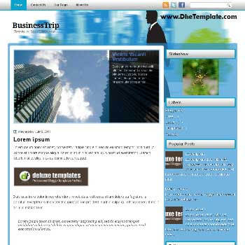 BusinessTrip blogger template. magazine style blogger template. featured image slider blogger template. template blogger for business blog