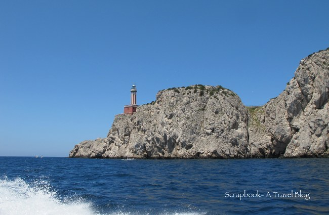 Capri Lighthouse boat ride around Italy