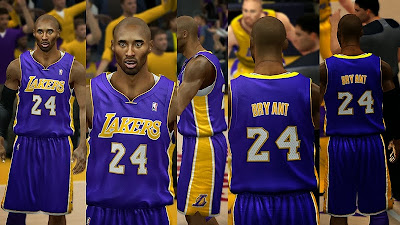 2K14 Lakers Away Jersey (Violet)