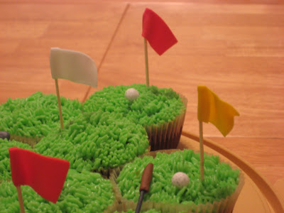Golf Themed Cheesecake Brownie Cupcakes - Close Up View 3