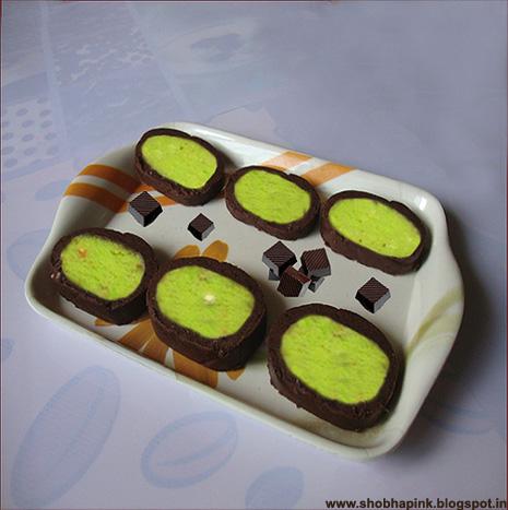 Chocolate Pista Rolls