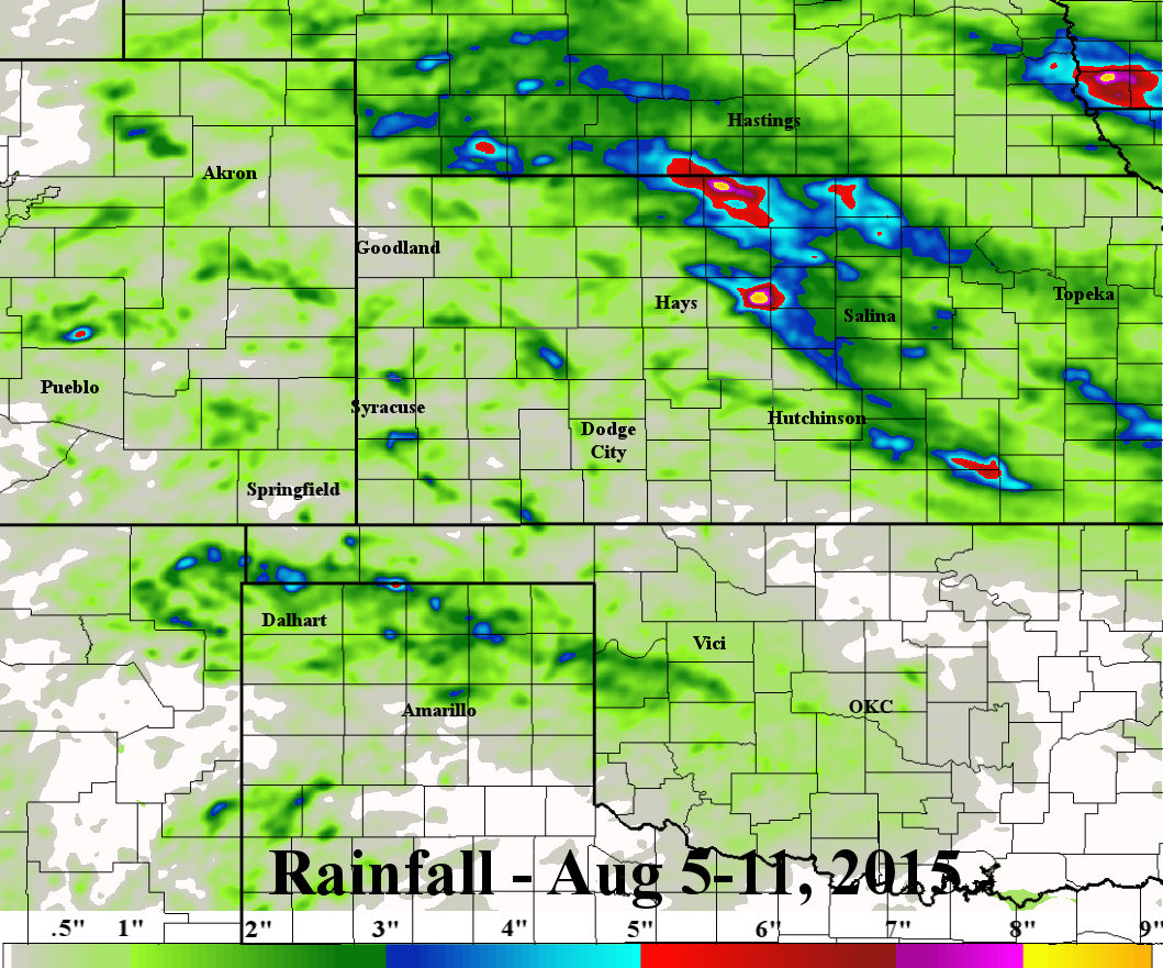 the thing that stands out to me is the exceptionally varying amounts of rainfall that fell during the period first the northern texas panhandle and