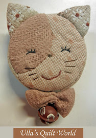 Quilted cat tape measure cover, pattern