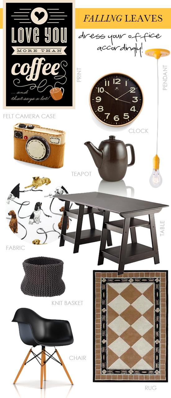 Falling leaves interior design shopping inspiration