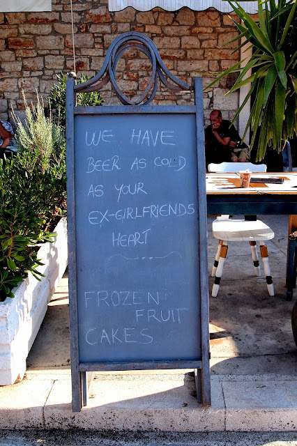 Ice-cream sign in Stari Grad, Croatia