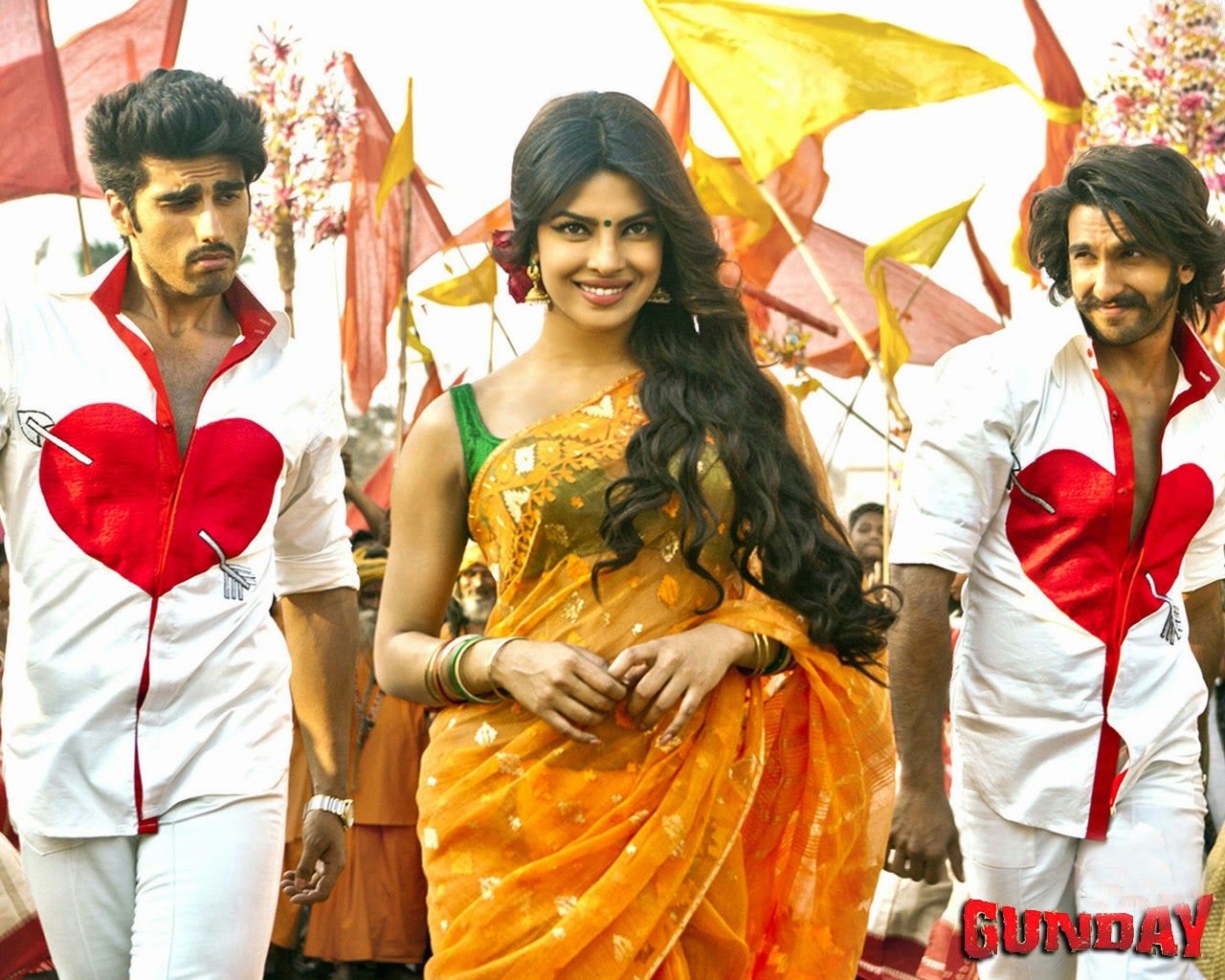 movie poster hd: gunday 2014 romantic bollywood movie hd wallpapers