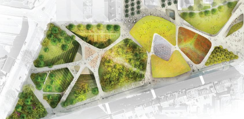 Construere somnus aberdeen city garden escocia un Arquitectura del paisaje