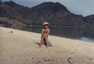 on the beach in Mulege Mexico