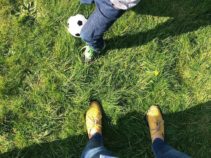 #familyfitness football with mummy