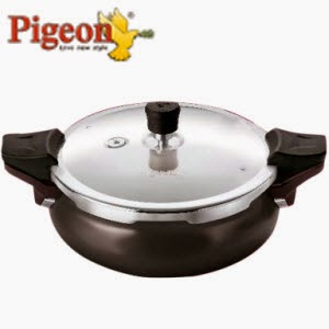 Snapdeal: Buy Pigeon Belita 3-in-1 Hard Anodized 3 Ltr Pressure Cooker Regular Rs. 1150, Hard Anodized Rs. 1390
