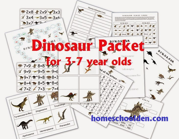 Dinosaur PreK Packet