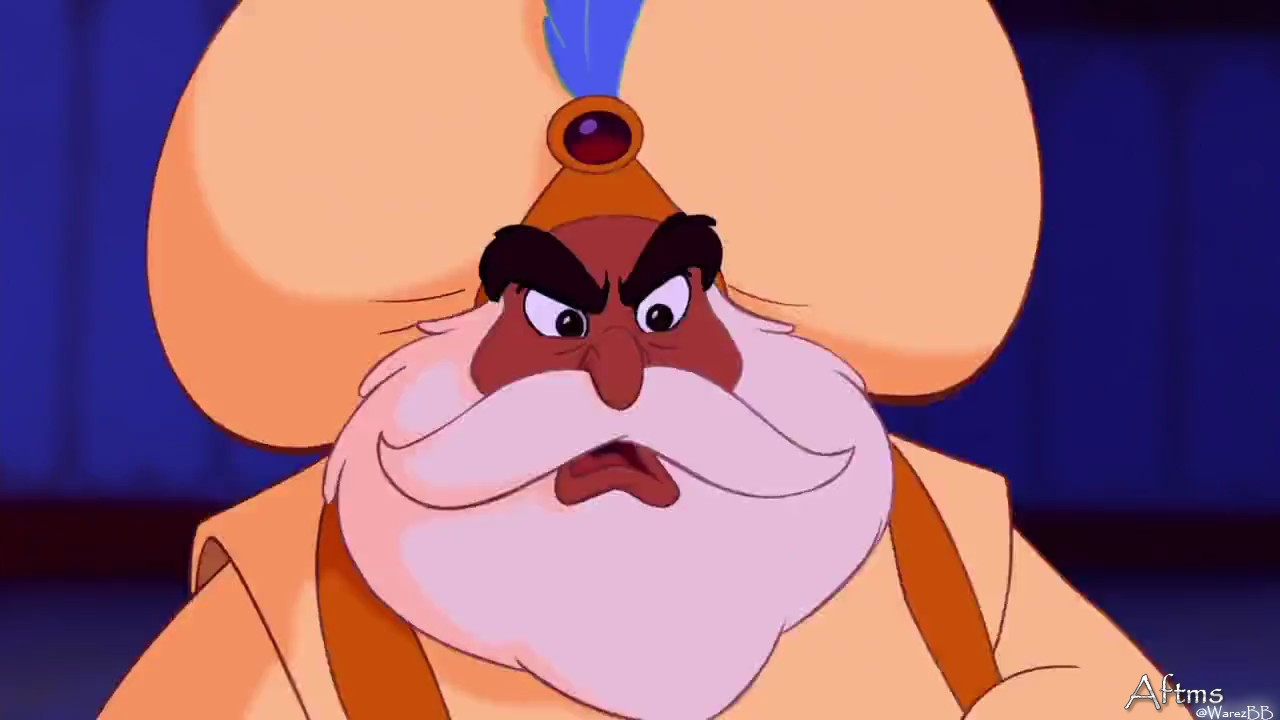 The sultan in Aladdin 1992 http://animatedfilmreviews.blogspot.com/2012/12/aladdin-1992-king-of-genies.html