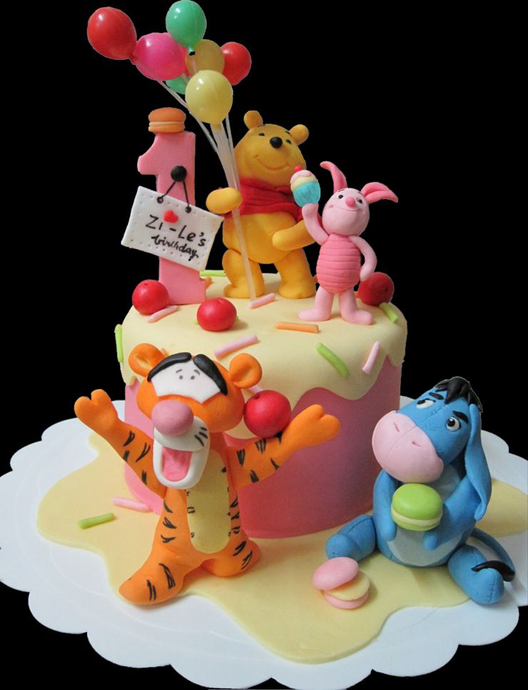 Mom And Daughter Cakes Winnie The Pooh Tigger Eeyore And Piglet