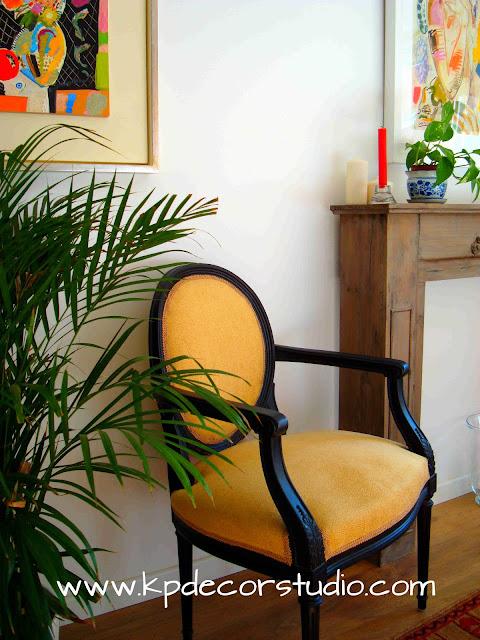 KPdecorstudio. Comprar silla Luis XVI. Butaca vintage. Sillones antiguos en venta