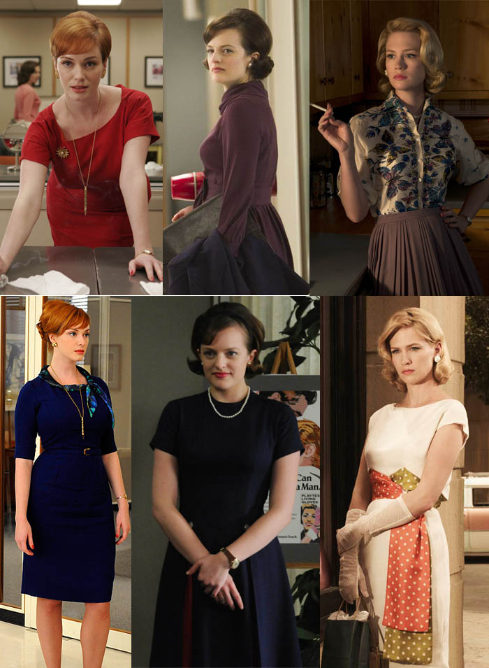 A MODA EM MAD MEN_mad men_joan_betty drapper_Peggy_figurino_costume_anos 50