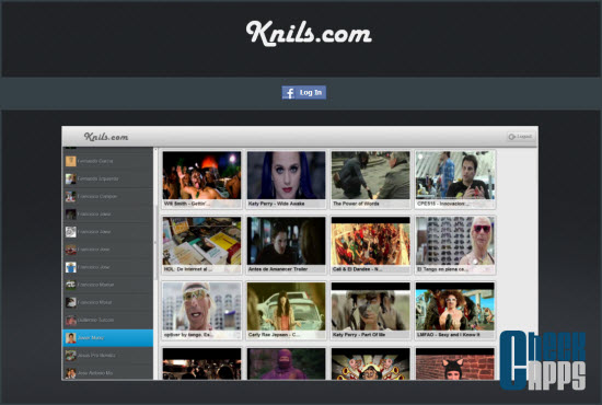 Knils,vdeos,facebook,mashup,aplicacion,ver videos