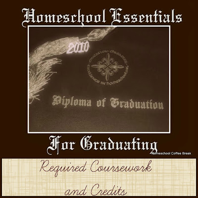 Homeschool Essentials for Graduating - Required Coursework and Credits on Homeschool Coffee Break @ kympossibleblog.blogspot.com
