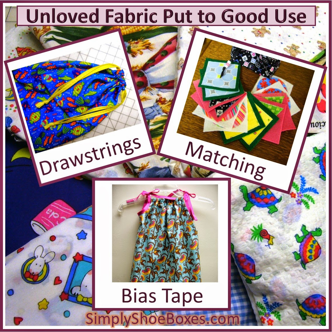 finding uses for purged fabric in other projects