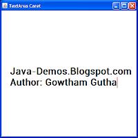 JTextArea containing a gradient painted caret.