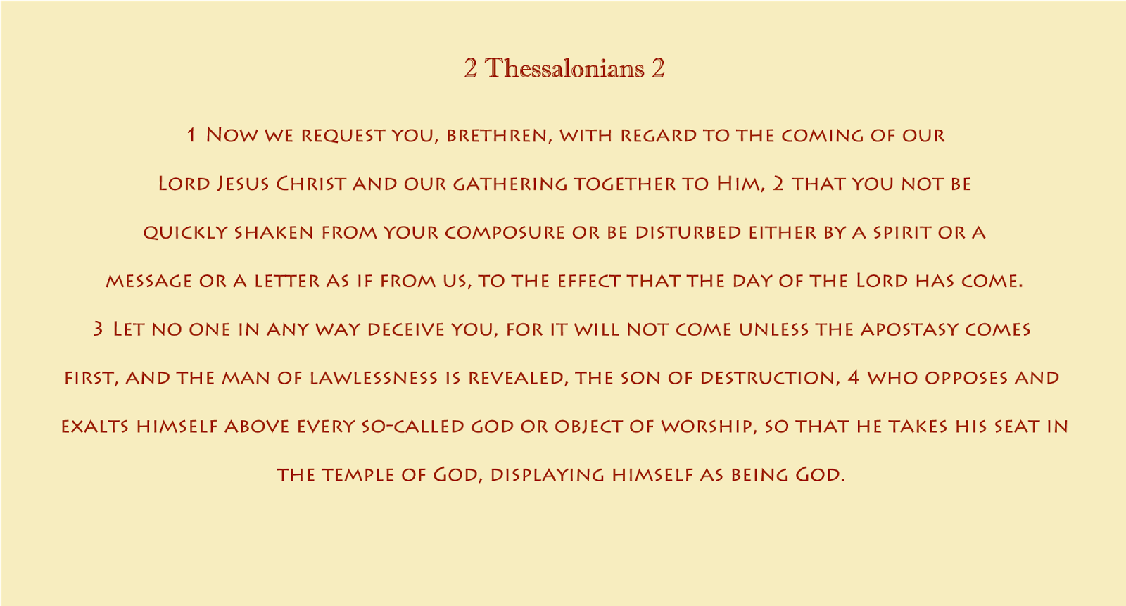 2 Thessalonians 2:1-4